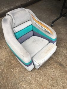 boat seat before repear 1