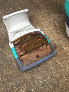 boat seat before repear 4