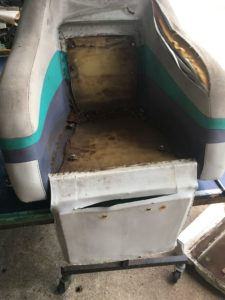 boat seat before repear 3